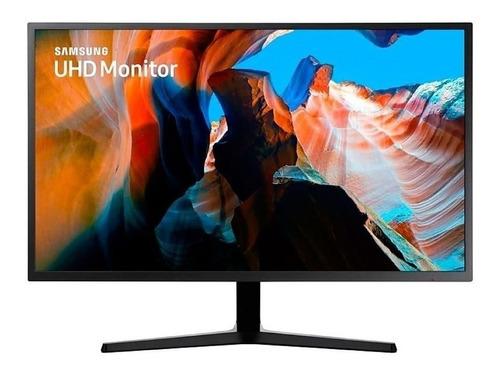 "Monitor Samsung U32J590UQ led 31.5"" azul oscuro y gris 100V/240V"