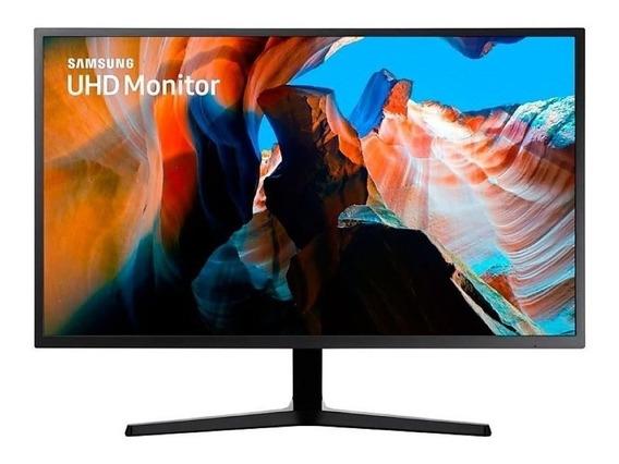 Monitor Samsung U32j590uq Led 31.5 Azul Oscuro Y Gris 110v/