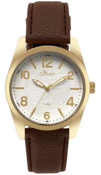 Relógio Condor Masculino Dourado Original Co2035kye/k2b
