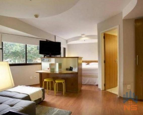 Flat Com 1 Dormitório Para Alugar, 34 M² Por R$ 1.962/mês - Brooklin Paulista - São Paulo/sp - Fl0031