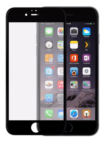 Vidrio Templado Completo iPhone 6 6s 3d Negro