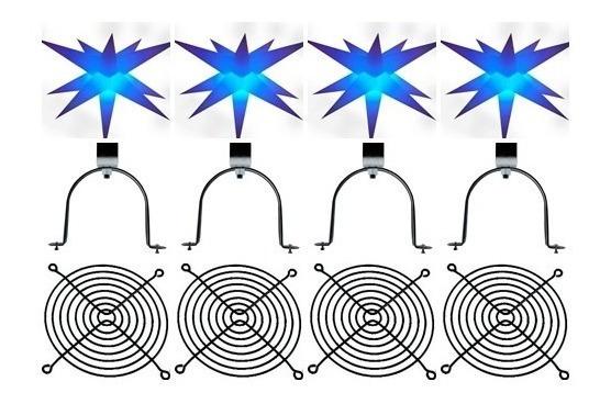Kit Sputnik Estrela 11 Pontas,dj,formatura,som,decoração,luz