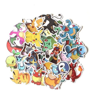 Set 37 Stickers Calcomanias Pokemon Pikachu Envio Gratis