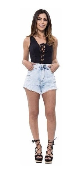 Short Jeans Feminino Cintura Alta Hot Pants Coloridos Hot