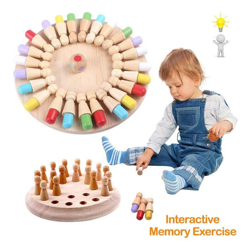 Parent-child Chess Memory Adulto Color Juego De Mesa Juguete