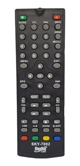 Controle Receptor Digital Bedin Sat Bhd-10 Sky-7002