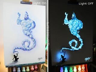 10 Gr Pigmento Foto-luminiscente Blanco-azul Turquesa Polvo