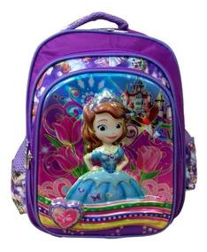 Mochila Escolar Infantil Princesinha Sofia De Costas Disney