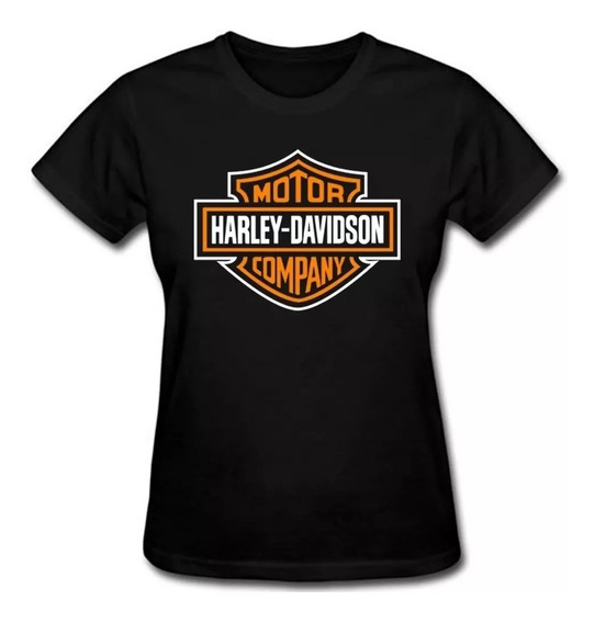 Camisa Camiseta Harley Davidson Feminina Baby Look
