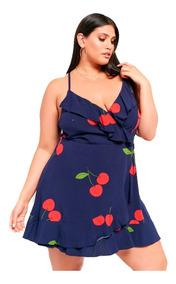 Vestido Forever 21 Corto Cherry Cereza Plus Size 2x 3x