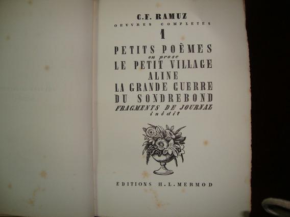 Oeuvres Completes Charles Ferdinand Ramuz 24 Volumes Raro