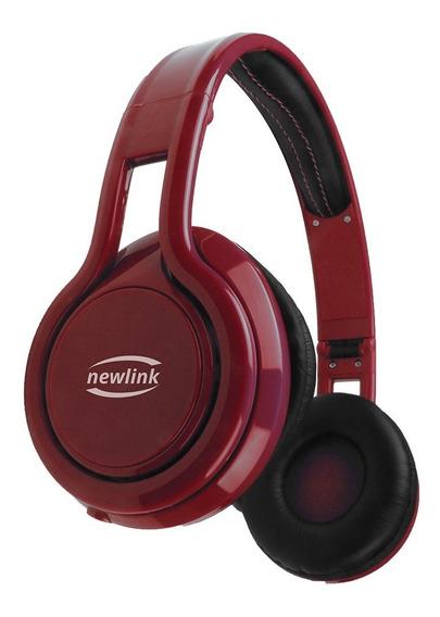 Fone De Ouvido Headset Energy Vermelho Plug Estéreo Newlink