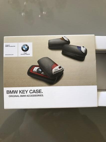 Key Case Red Bmw Em Couro Original C/part Number