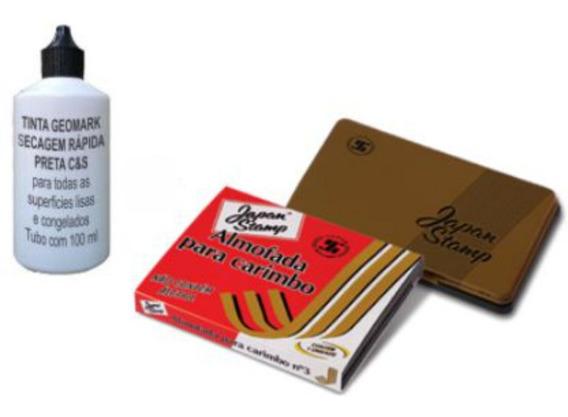 Tinta Secagem Rápida Geomark + Almofada 70x110 Mm