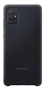 Capa Protetora Silicone Preto Samsung Galaxy A71