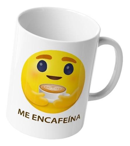 Imagen 1 de 6 de Taza Nuevo Emoji Facebook Me Encafeína Cafe Te Original