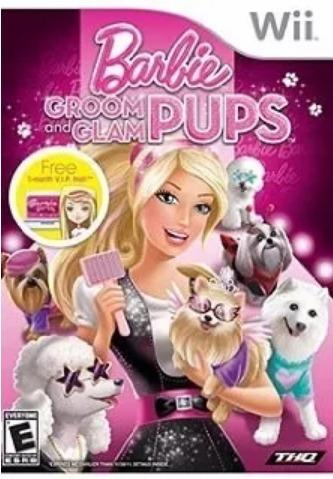 Game Wii Barbie Groom And Glam Pups Jogo Lacrado