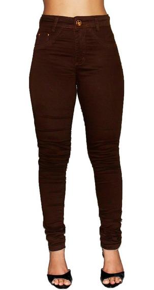 Kit 2 Calça Jeans Feminina Cintura Alta Com Lycra Lançamento