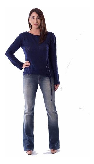 Calça Flare Jeans Equus Indigo Medio