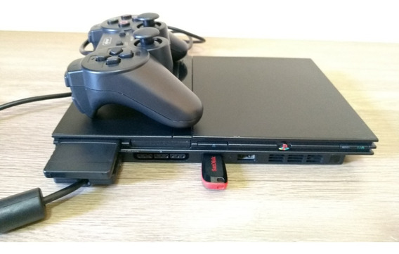 Playstation 2 Ps2 Via Usb Opl + Memorycard+ 2controles+jogos