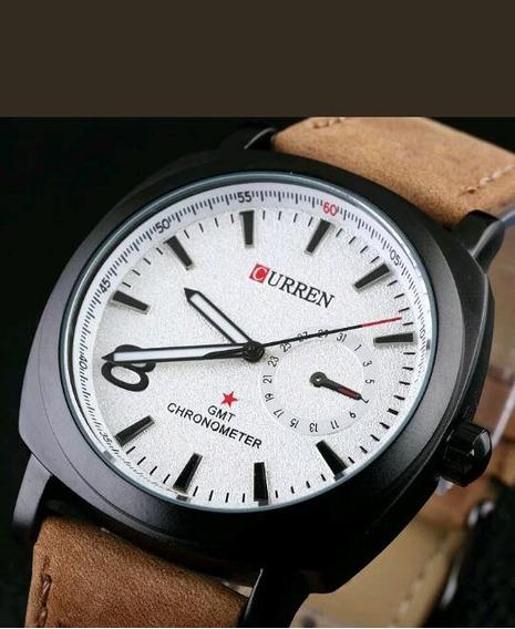Relógio Curren Pulseira Couro Original