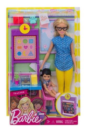 Barbie Set Profesora Mattel Original