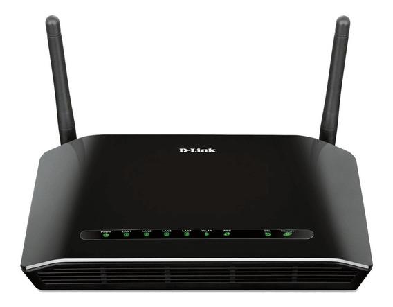Roteador Modem D-link Wireless N 300mbps Adls2+ Dsl 2740e