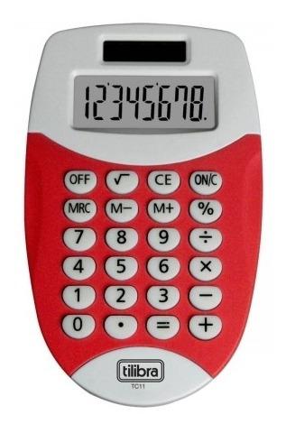 Calculadora De Bolso 8 Dígitos Pequena Tc11 Vermelha Tilibra