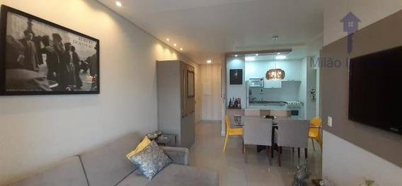 Apartamento Mobiliado 3 Dormitórios À Venda, 90m², Residencial Plaza Madrid, Pq. Campolim Em Sorocaba/sp - Ap1191
