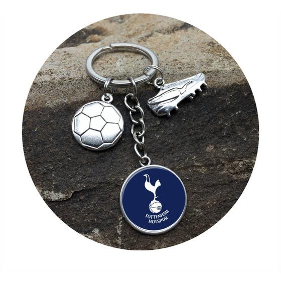 Llavero Metalico Oficial Con Escudo Del Equipo Tottenham Hotspur Fc Accesorios Llaveros