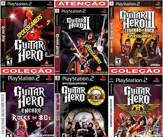 Guitar Hero Collection (6 Jogos) Ps2 Desbloqueado Patch