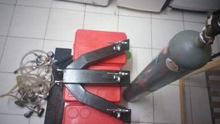 Chopera Para Bar 3 PicosCon Regulador Conectores Y Tubo Gas