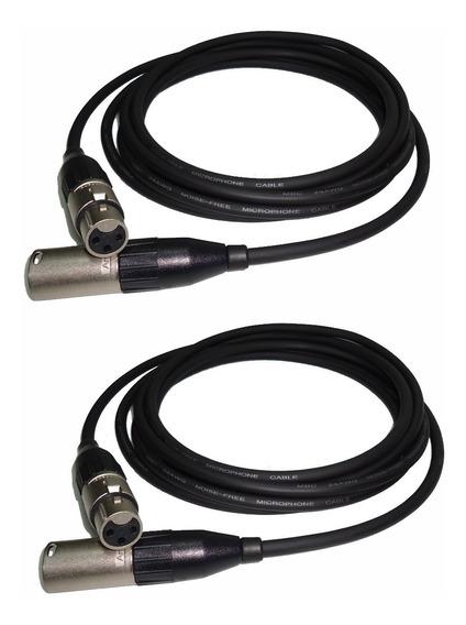 2 Cables Canon A Canon Balanceado 1,5mts Amphenol