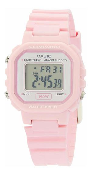 Relógio Casio Feminino Rosa Quadrado Pequeno Digital + Nf