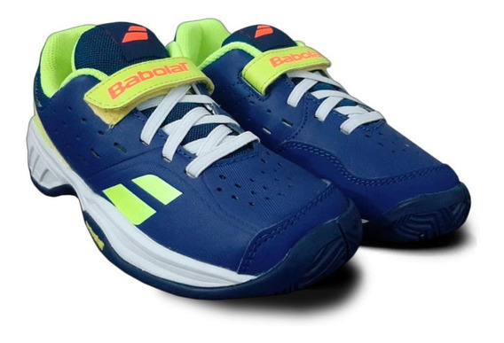 Tênis Babolat Pulsion All Court Kids - Azul Com Amarelo