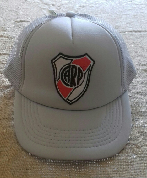 Gorra Trucker Gris Club Atletico River Plate Parche Bordado