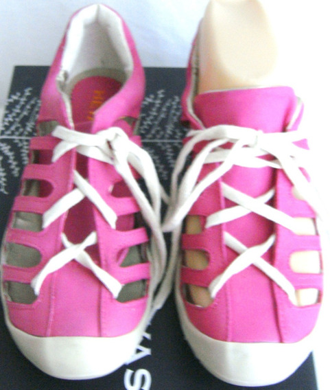 Heyas Zapatos Zapatillas Sandal 35,36 Nobuk Fucsia (ana.mar