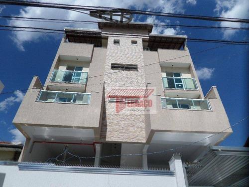 Cobertura Com 2 Dormitórios À Venda, 47 M² Por R$ 350.000 - Vila Pires - Santo André/sp - Co0730