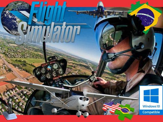 Simulador De Voo Flight Simulator Com Muitos Helicóptero Pc
