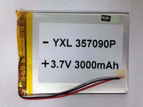 Imagen 1 de 4 de Bateria Tablet China 3.7v 3000mah 9,3x7x0,3cm Kingpc6,5