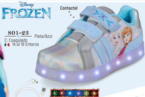 Tenis Con Luz Led Cklass Kids&teans Frozen 801-23 Cfd Remate