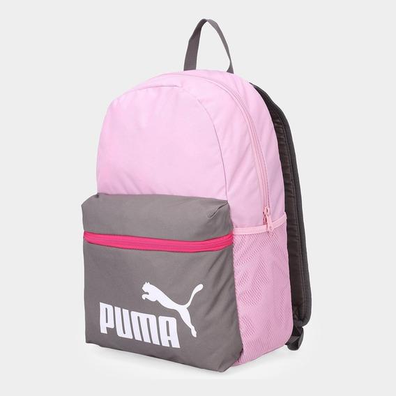 Mochila Puma Phase Mujer Rosa/gris