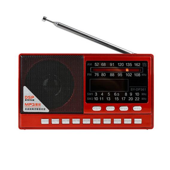 Rádio Merenda Sy-dp361 Am/fm Stéreo/sw Mp3 Player