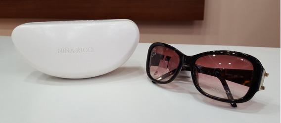 Óculos De Sol Nina Ricci 3241 Acetato Marrom Feminino