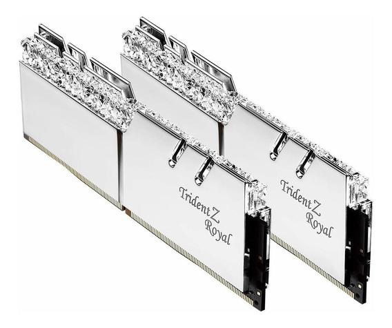 Memoria Ram 32gb G.skill Ddr4 Trident Z Royal Silver 3200mhz Pc4-25600 Cl16 1.35v Dual Channel Kit (2x16gb)