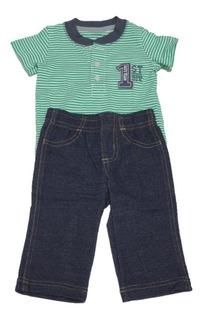 Conjunto De Playera Verde Y Pantalón Carter