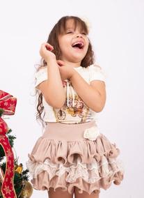 Conjunto Princesa Luxo Menina Tutu