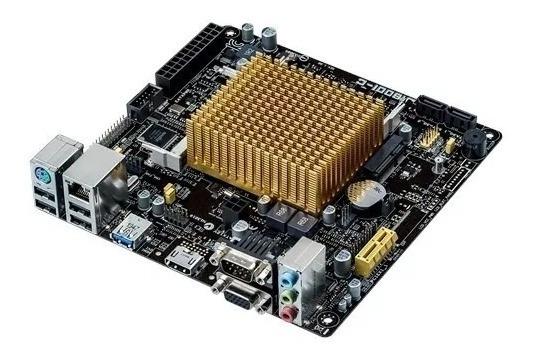 Placa Mae J1800i-c/br Asus P/ Celeron Dual Core + 4g Memória