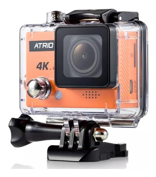 Câmera Esportiva Atrio 4k Capacete Mergulho Filma Pro Wifi Cam