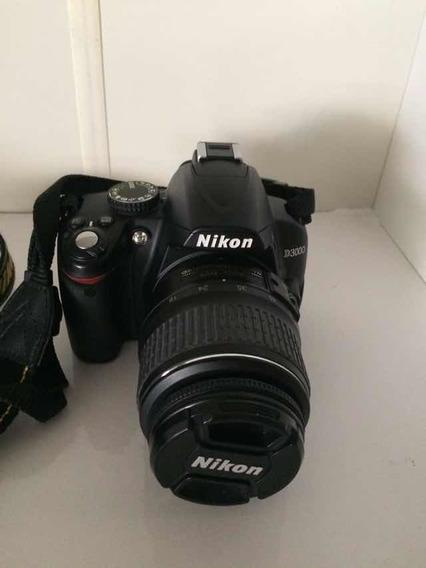Cámara Nikon D3000 Con Dos Lentes Y Bolso, Poco Uso